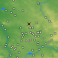 Nearby Forecast Locations - Tarnowskie Góry - Map