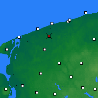 Nearby Forecast Locations - Trzebiatów - Map