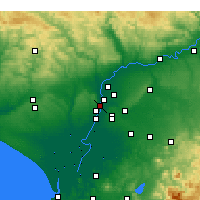 Nearby Forecast Locations - San Juan de Aznalfarache - Map