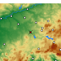 Nearby Forecast Locations - Puente Genil - Map
