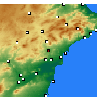 Nearby Forecast Locations - Novelda - Map