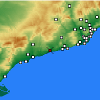 Nearby Forecast Locations - El Vendrell - Map