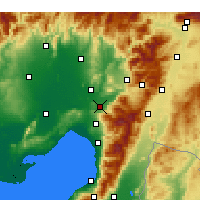 Nearby Forecast Locations - Osmaniye - Map