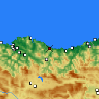 Nearby Forecast Locations - Ondarroa - Map
