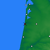 Nearby Forecast Locations - Mimizan - Map