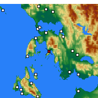 Nearby Forecast Locations - Mytikas - Map