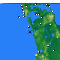 Nearby Forecast Locations - Port Waikato - Map