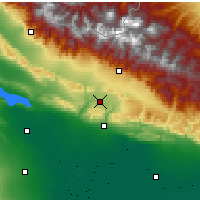 Nearby Forecast Locations - Qabala - Map