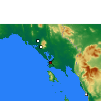 Nearby Forecast Locations - Trat - Map