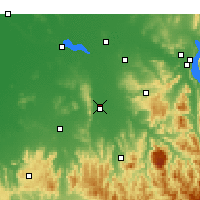 Nearby Forecast Locations - Wangaratta - Map