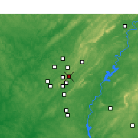 Nearby Forecast Locations - Mountain Brook - Map