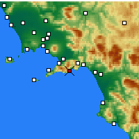 Nearby Forecast Locations - Amalfi - Map