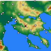 Nearby Forecast Locations - Anthemountas - Map