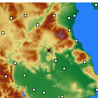 Nearby Forecast Locations - Elassona - Map