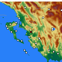 Nearby Forecast Locations - Filiates - Map