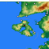 Nearby Forecast Locations - Kalloni - Map