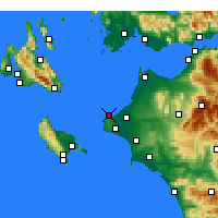 Nearby Forecast Locations - Kastro-Kyllini - Map