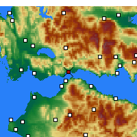 Nearby Forecast Locations - Nafpaktos - Map