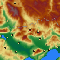 Nearby Forecast Locations - Kato Nevrokopi - Map