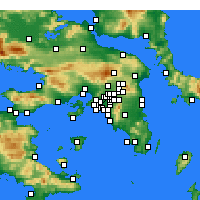 Nearby Forecast Locations - Tavros - Map