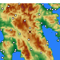 Nearby Forecast Locations - Tegea - Map