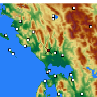 Nearby Forecast Locations - Thesprotiko - Map