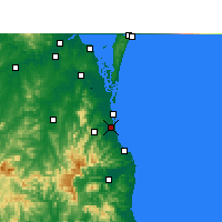 Nearby Forecast Locations - Gold Coast - Map