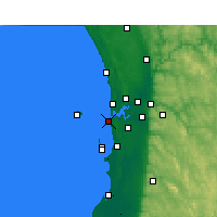 Nearby Forecast Locations - Fremantle - Map