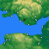Nearby Forecast Locations - Bridgend - Map