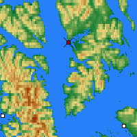 Nearby Forecast Locations - Angoon - Map