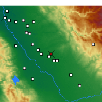 Nearby Forecast Locations - Atwater - Map