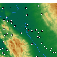 Nearby Forecast Locations - Manteca - Map