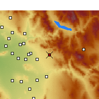 Nearby Forecast Locations - Apache Junction - Map