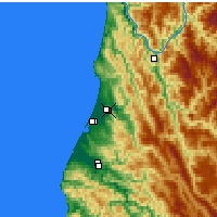 Nearby Forecast Locations - Arcata - Map