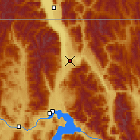 Nearby Forecast Locations - Bonners Ferry - Map