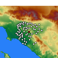 Nearby Forecast Locations - Brea - Map