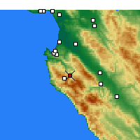 Nearby Forecast Locations - Carmel Valley Village - Map