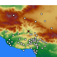 Nearby Forecast Locations - Castaic - Map