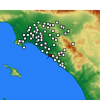 Nearby Forecast Locations - Corona del Mar - Map