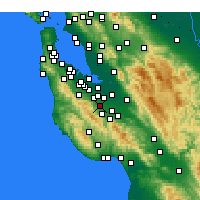 Nearby Forecast Locations - Cupertino - Map