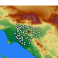 Nearby Forecast Locations - Diamond Bar - Map