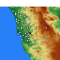Nearby Forecast Locations - El Cajon - Map