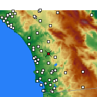 Nearby Forecast Locations - Escondido - Map