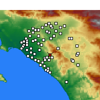 Nearby Forecast Locations - Foothill Ranch - Map