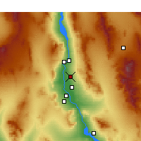 Nearby Forecast Locations - Fort Mohave - Map