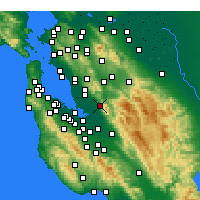 Nearby Forecast Locations - Fremont - Map
