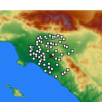 Nearby Forecast Locations - Fullerton - Map