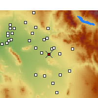 Nearby Forecast Locations - Gilbert - Map