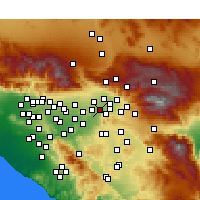 Nearby Forecast Locations - Grand Terrace - Map