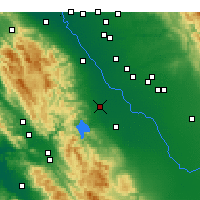 Nearby Forecast Locations - Gustine - Map